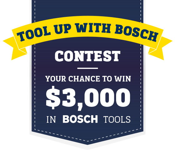 Contest Win 3000 In Bosch Tools From Rona