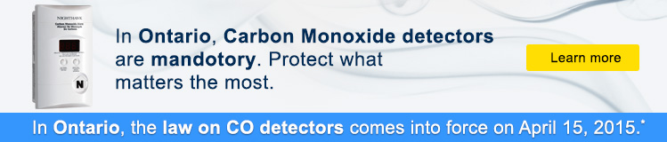 In Ontario, Carbon Monoxide detectors are mandatory