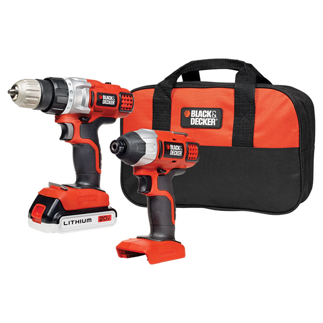 """Black & Decker"" 20-V Impact Driver and Drill Combo"