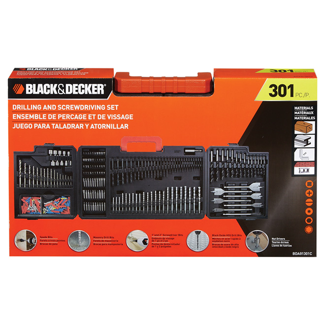 """Black & Decker"" 301-Piece Bit and Drill Bit Set"