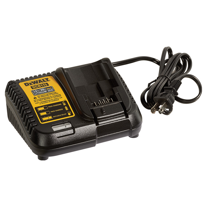 Lithium-ion Battery Charger - 12-20 V - Plastic - Black