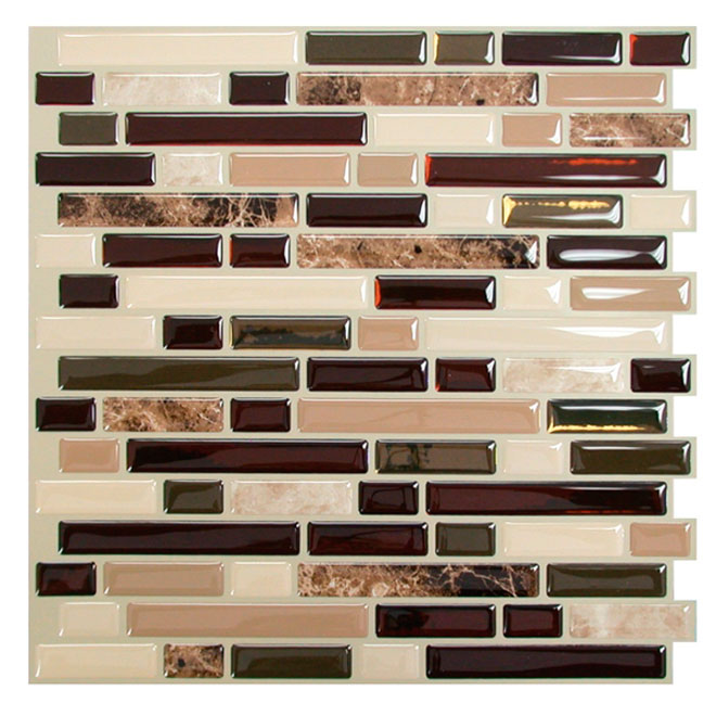 Self adhesive wall tile bellagio keystone rona - Stickers imitation carrelage ...