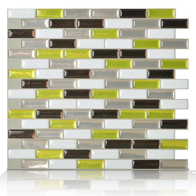 Tuile adh sive murale murano verde paquet 6 rona - Mosaique auto adhesive ...