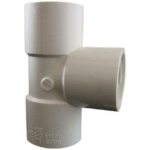 "Industrial PVC Tee Coupling - 1"" - White"