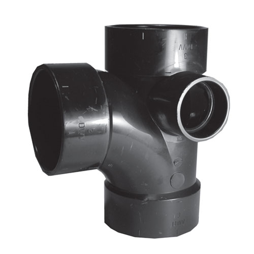 Abs Tee Wye With Inlet Rona