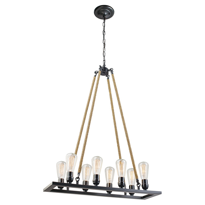 """Vintage"" 8-Light Chandelier"