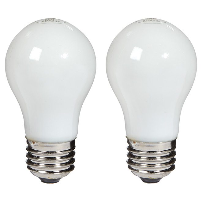 2-Pack 43 W A15 Soft White Halogen Bulbs