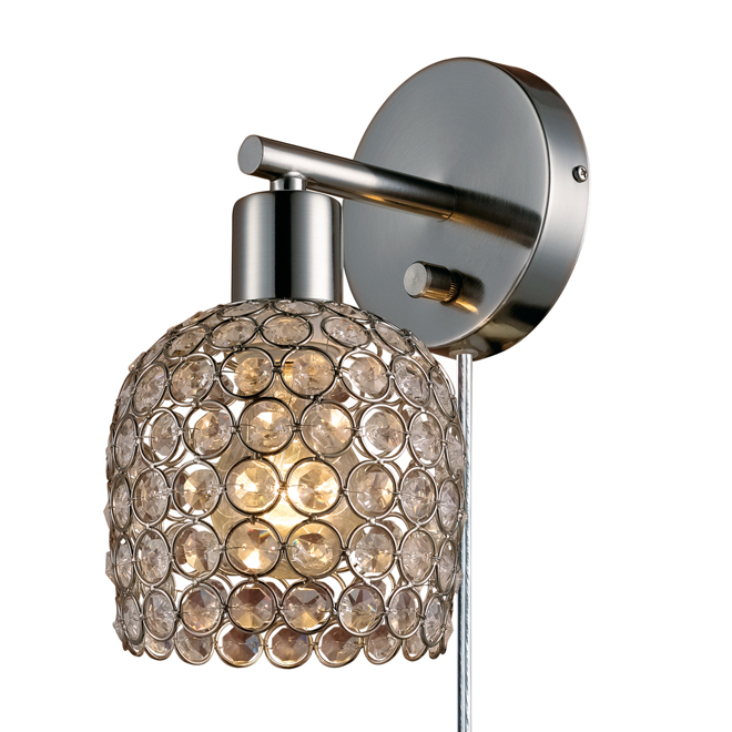 Wall Lamps Rona : 1-Light Wall Sconce with Crystal Shade RONA