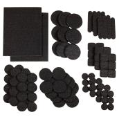 Self-Adhesive Felt Pad Multipack - Eco - Black - 105/Pk