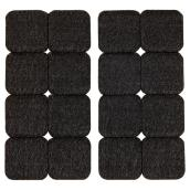 Self-Adhesive Felt Pads - Eco - Square - Black - 1