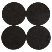 Self-Adhesive Felt Pads - Eco - Round - Black - 2 1/4