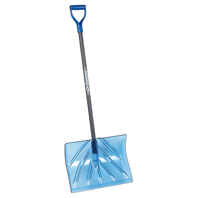 "Snow Shovel - Polycarbonate - 18"" - Clear Blue"
