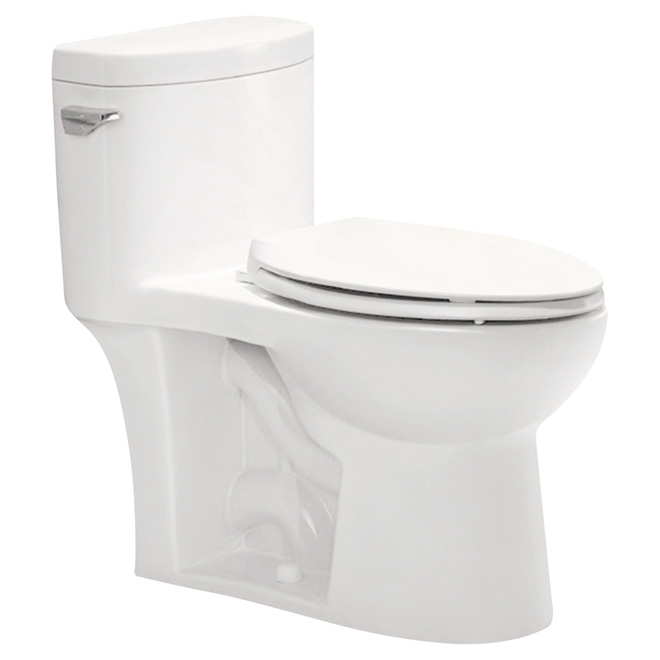 Elongated Front 1-Piece Toilet, Comfort, 6 L, White