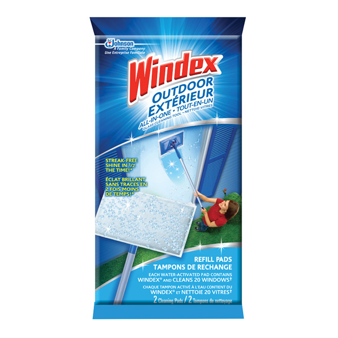 Refill for outdoor window cleaner