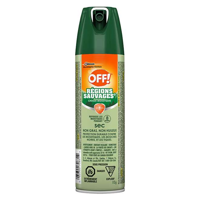 Insectifuge r gions sauvages en a rosol 113 g rona for Brulots de jardin
