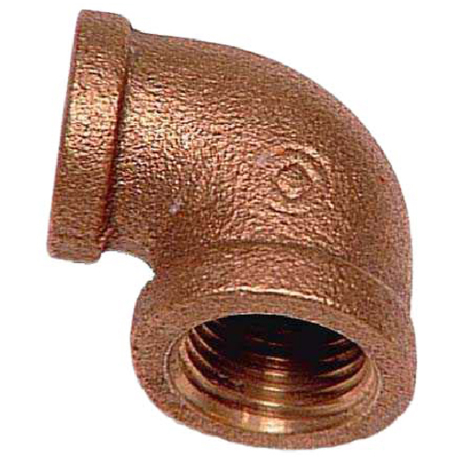 "Elbow - Brass - 90° - 3/4"" x 1/2"" - FIP x FIP"