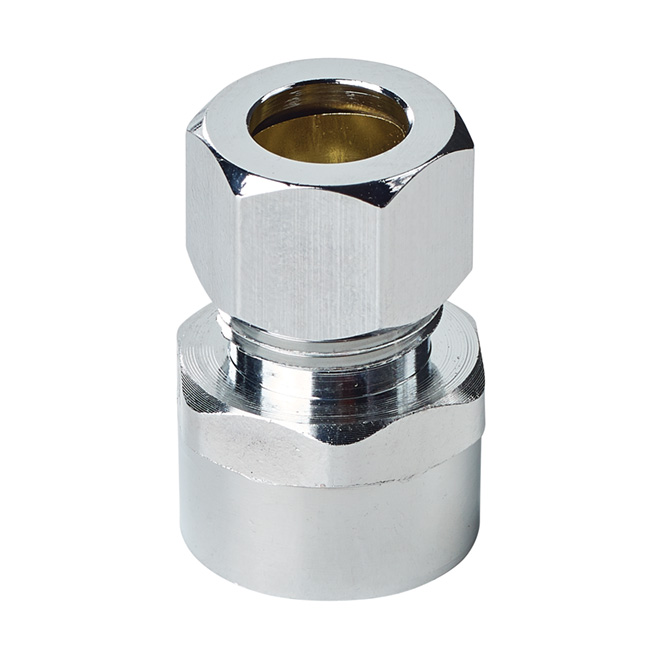 "Outlet Fitting - Lead-Free Brass - 1/2"" - Chrome-Plated"