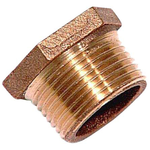 "Hex Bushing - Lead-Free Brass - 1"" x 1/2"" - MIP x FIP"