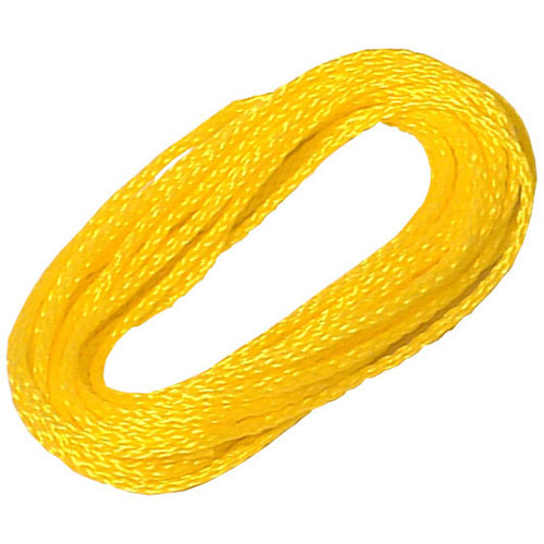 "Hollow Braided Rope - 1/4"" x 50' - Yellow"