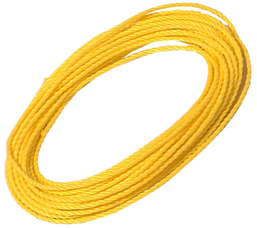 "Twisted Rope - 3-Strand - 3/16"" x 50' - Yellow"