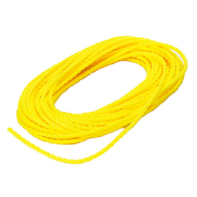 "Twisted Rope - 3-Strand - 1/4"" x 50' - Yellow"