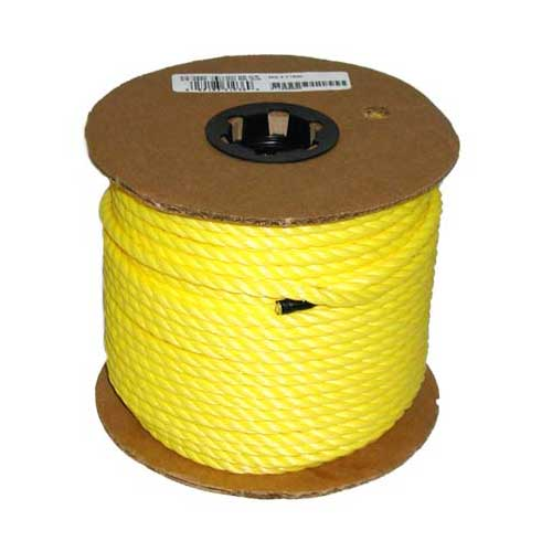 "Twisted Rope - 3-Strand - 3/8"" x 250' - Yellow"