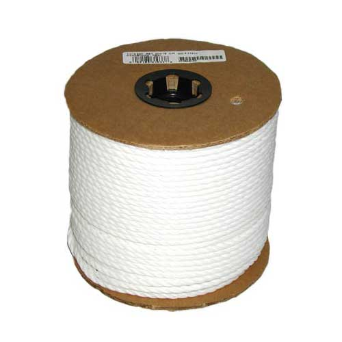 "Twisted Rope - 3-Strand - 1/4"" x 550' - White"