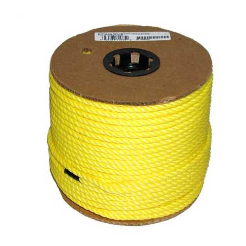 "Twisted Rope - 3-Strand - 5/16"" - Yellow"
