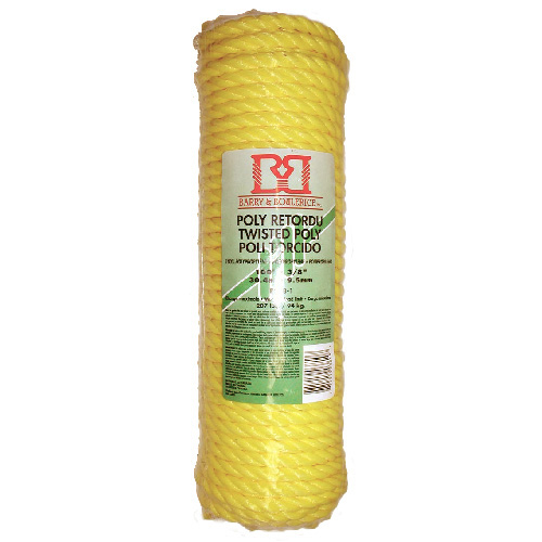 "Twisted Rope - 3-Strand - 3/8"" x 100' - Yellow"