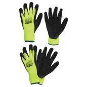 Yellow Latex High-Visibility X-Large Gloves