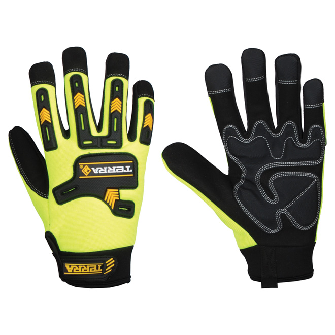High-Visibility Working Gloves - Large