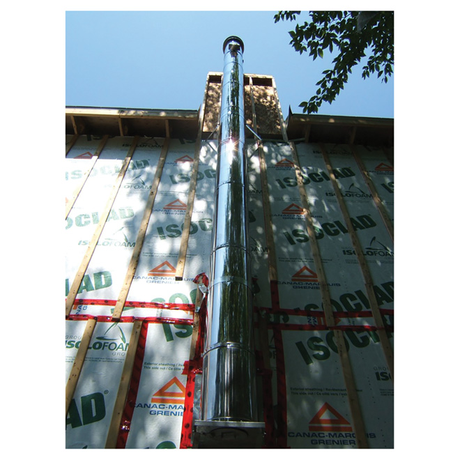 Insulated chimney length