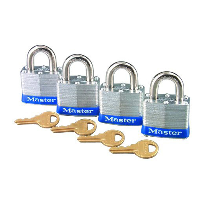 "High Security Padlock - 1 1/2"" - Pack of 4"