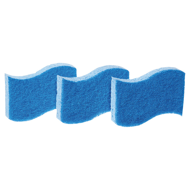 3-Pack No-Scratch Multi-Purpose Scrub Sponges