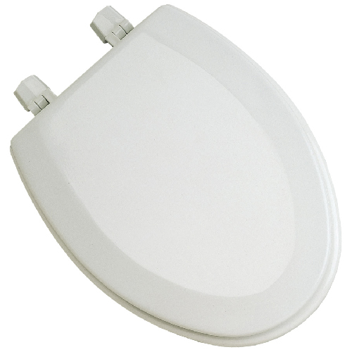 Molded Wood Toilet Seat - Elongated - White
