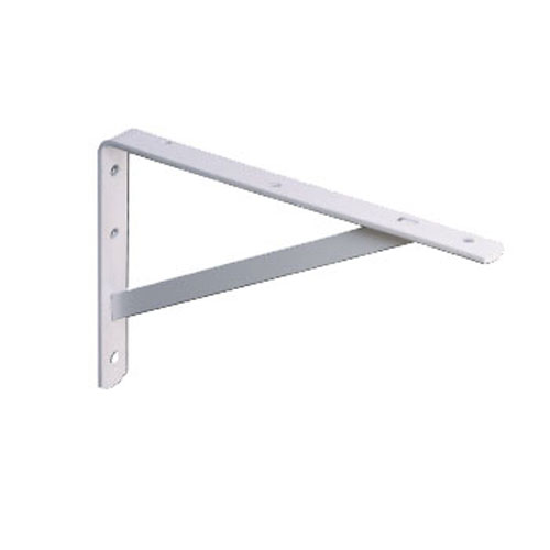 "Heavy-Duty Steel Shelf Bracket - 21 5/8"" -  White"