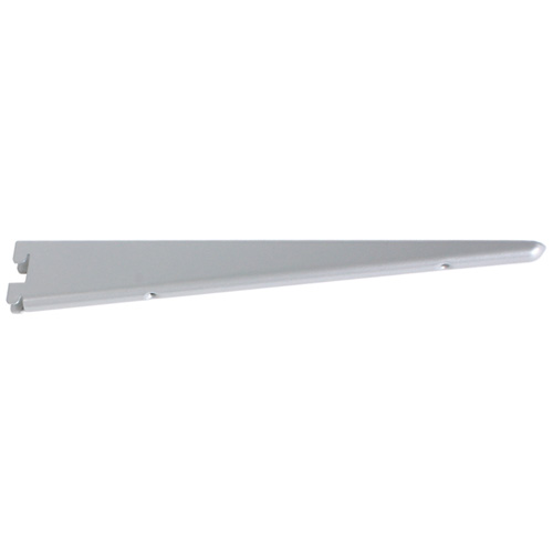 "Steel Double Shelf Bracket - 14 1/2"" - Titanium"