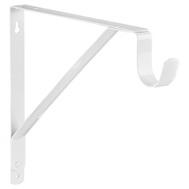 Shelf and Rod Support - White - 11""