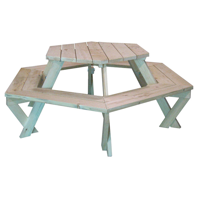 hexagonal picnic table rona. Black Bedroom Furniture Sets. Home Design Ideas