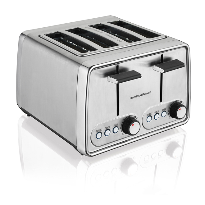 4 Slice Toaster with Bagel Setting Silver