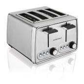 4-Slice Toaster with Bagel Setting - Silver