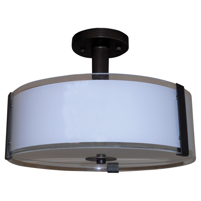 """Sinclair"" 3- Light Semi Flush-Mount - 14"""
