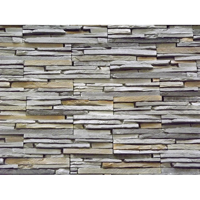 Oslo self adhesive decorative stone rona for Fausse pierre interieur