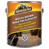 Wood Preservative - 3.78 L - Mocha Brown