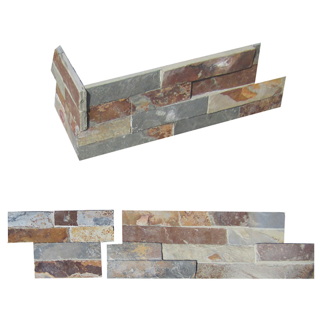 Ledgestone Corner Wall Slate - Multicolored