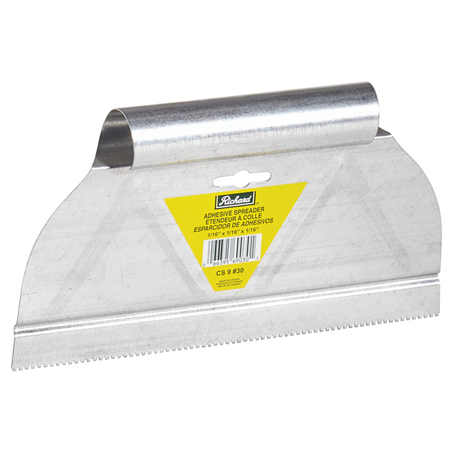 """Square-Notch"" Adhesive Spreader - 9"""