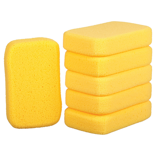 "Grouting Sponge - 8"" x 5"" x 2"" - Pack of 6"