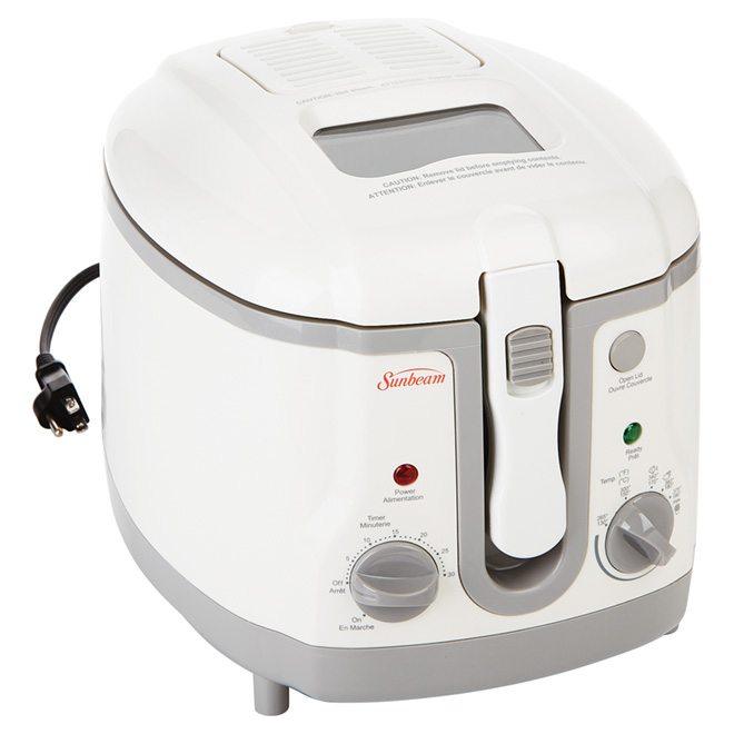 1.5-L Deep Fryer with Adjustable Temperature - White