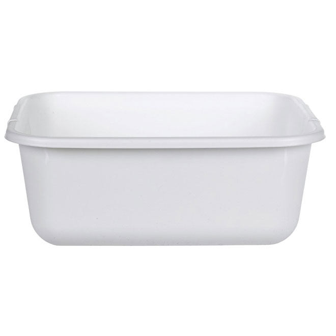 White Rectangular Dishpan