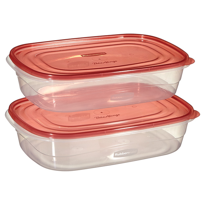 Set of 2 Food Containers - Plastic - 1 Gallon